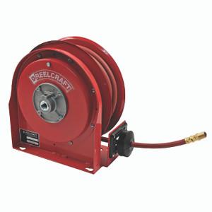 """Reelcraft Series 3000 Ultra Compact Low Pressure Air/Water Hose Reel- Reel & Hose- 3/8"""" x 25'"""