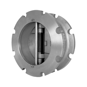 Titan Flow Control CV 42-CS Carbon Steel Dual Disc Wafer Type Check Valve w/ Buna-N Seat & SS Disc - ASME Class 150