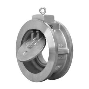 Titan Flow Control CV 32-CS Carbon Steel Single Disc Wafer Type Swing Check Valve w/ Viton SS Disc - ASME Class 150