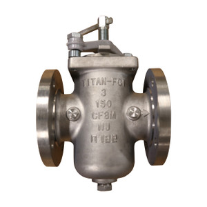 Titan Flow Control BS 85-SS Flanged (Raised Face) Stainless Steel Simplex Basket Strainer w/ Quick Clamp Cover - ASME Class 150