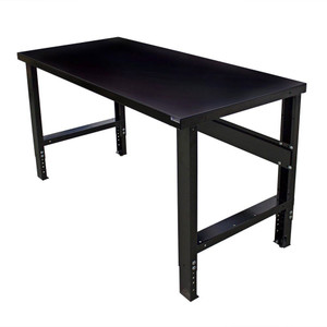 "Borroughs Steel Top Workbench 48""L x 34""D x 36""H, Black"