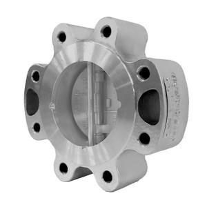Titan Flow Control CV 42L-CS Carbon Steel Dual Disc Lug Style Check Valve w/ Viton Seat & SS Disc - ASME Class 150