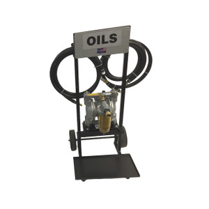 WEN Industries Accelerator 100TS Series Mobile Oil Transfer System w/ Double Diaphragm Air Pump