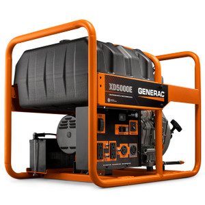 Generac 6864 XD5000E Commercial Generator, 50 State/CSA, 5000 Watts , 120/240V, Diesel, Electric/Recoil Start