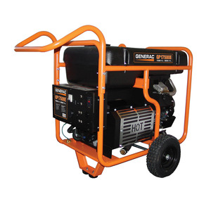 Generac 5735 GP17500E Portable Generator, 1700 Watts, 120/240V, Gasoline, Electric Start