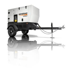 Generac MDG25IF4-STD Towable/Backup Generator, 22000/23000 Watts, Diesel, Electric Start, 1-Ph/3-Ph