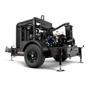 Generac MTP6DZD 6 in. Diaphragm Mobile Dry Prime Trash Pump, 2750 GPM