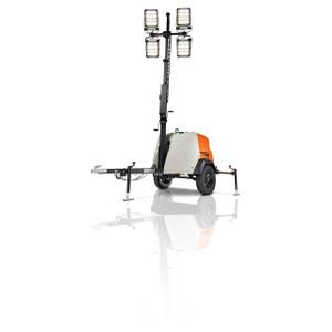 Generac MLT6SKDS Portable LED Light Tower w/Manual Winch Mast, Kubota Engine