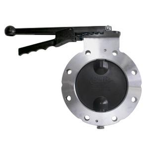 Betts WD Series 4 in. Aluminum Wet-R-Dri Metering Butterfly Valve w/ Viton Seals & Disc, TTMA Flange, Locking Handle