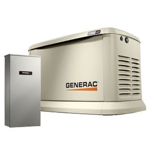 Generac 7043 Guardian Series Air-Cooled Home Standby Generator w/200 Amp Transfer Switch, 22 kW (LP)/19.5 kW (NG), 120/240V