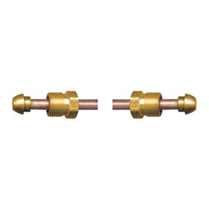 Fairview Fittings 3/8 in. Copper Large OD POL x POL Propane Gas Hogtail