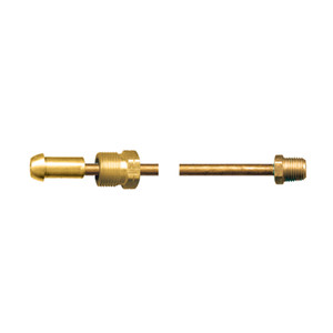Fairview Fittings 1/4 in. Copper Long Nose POL x Solid Male Pipe Propane Gas Pigtail - 20 in. Length