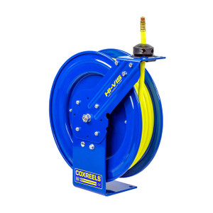 Coxreels P Series Standard Duty Air Reel w/ High Visibility Safety Hose - Reel & Hose - 3/8 in. x 50 ft.