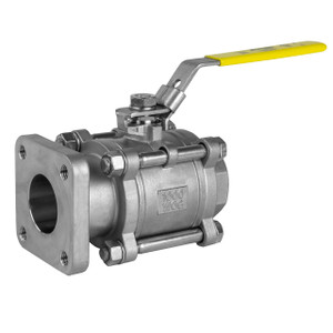 Jomar Valve T-SS-1000N-4B Series 2 in. NPT 3-Piece 4 Bolt Stainless Ball Valve, Swing Out Body, Full Port, Square Flange x Threaded Connection, 1000 PSI