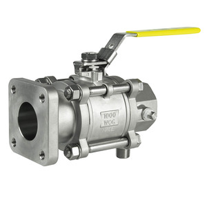 Jomar Valve T-SS-1000N-4B Series 2 in. NPT 3-Piece 4 Bolt Stainless Ball Valve, Swing Out Body, Full Port, Square Flange x Threaded Connection w/Drain Tap, 1000 PSI