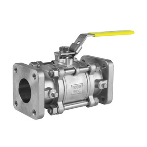Jomar Valve T-SS-1000N-4B Series 2 in. NPT 3-Piece 4 Bolt Stainless Ball Valve, Swing Out Body, Full Port, Square Flange x Square Flange, 1000 PSI