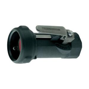 Emco Wheaton J79 Series 1 1/2 in. Female NPT Aluminum Dry Break Straight Coupler w/ Nitrile Rubber Seal & 90° Lever