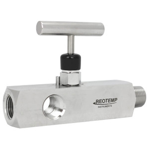 Reotemp Series G40 Multiport Block & Bleed Valve, 3 x 1/2 in. FNPT Ports, 10,000 PSI @ 200°F, Stainless Steel
