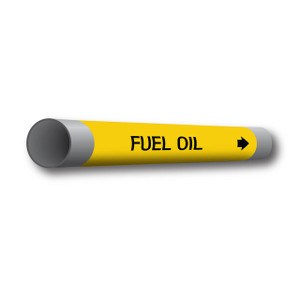 """Marking Services Series MS-970 Coiled Plastic Marker, """"Fuel Oil"""", Yellow"""