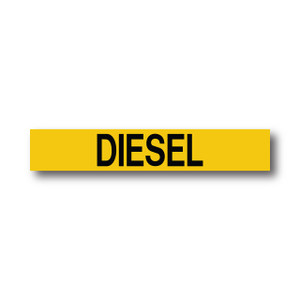 """Marking Services Series MS-900 Self-Adhesive Pipe Marker """"DIESEL"""", Yellow"""