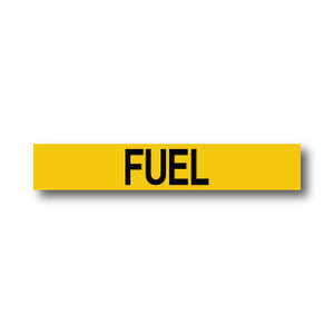 """Marking Services Series MS-900 Self-Adhesive Pipe Marker """"FUEL"""", Yellow"""