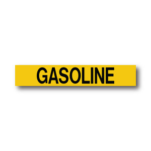 """Marking Services Series MS-900 Self-Adhesive Pipe Marker """"GASOLINE"""", Yellow"""