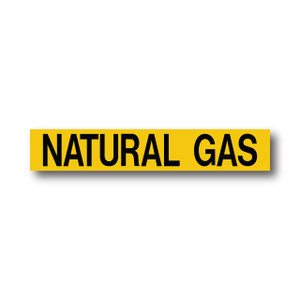 """Marking Services Series MS-900 Self-Adhesive Pipe Marker """"NATURAL GAS"""", Yellow"""