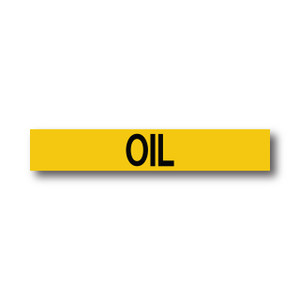 """Marking Services Series MS-900 Self-Adhesive Pipe Marker """"OIL"""", Yellow"""