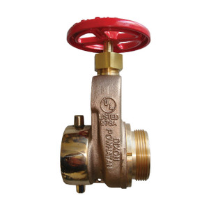 Dixon 2 1/2 in. Female NST(NH) x Male NST(NH) Cast Brass Single Hydrant Gate Valve w/ Hand Wheel