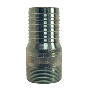 Dixon 2 in. NPT Plated Steel King Combination Nipple - MNPT x Hose Shank