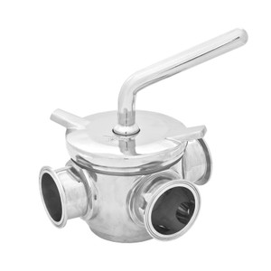 Cipriani Harrison Valves Corp. 11 Series 316 Stainless Steel 3-Way Plug Valve w/ EPDM Seal