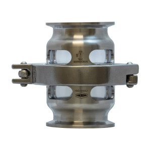 Dixon Sanitary HSG Series Single Pin Clamp Hygienic Sight Glass w/ Viton Gasket & Triclamp Connections