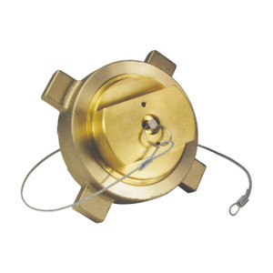 Dixon Cryogenic Brass LNG Coupling w/ FNPT Thread/Plug & Retaining Cable