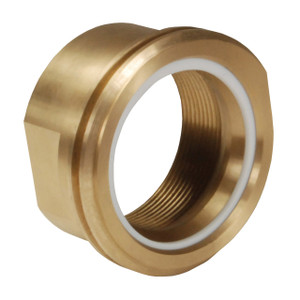 Dixon 3 in. FNPT Brass LNG Coupling w/ Fixed End