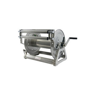Hannay SNC18 Series Aluminum Manual Rewind Reel Only w/Optional Rollers