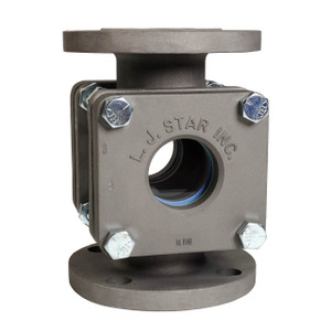 LJ Star Visual Flow Indicators Standard Flanged Models w/Drip Tube, Stainless Steel