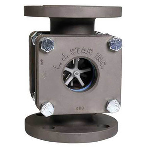 LJ Star Visual Flow Indicators Standard Flanged Models w/Rotator, Stainless Steel