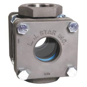 LJ Star Visual Flow Indicators Standard Threaded Models w/Drip Tube, Stainless Steel