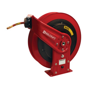 Reelcraft 3/8 in. x 50 ft. Series RS7000 REELSAFE™ Low Pressure Controlled Return Air/Water Hose Reel - Reel & Hose