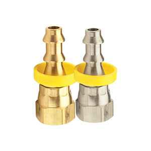 Dixon Brass Female 45° SAE/37° JIC Swivel Push-on Hose Barb w/Dual Angle Fitting