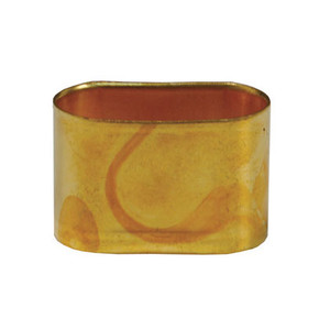 Dixon Oxy-Acetylene Brass Ferrule, .474 x.943 in. ID, .019 in. Gauge, 25 Qty.