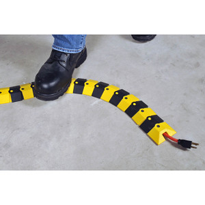 UltraTech 1800 Sidewinder, 39 1/2 in. L x 3 in. W x 3/4 in. H Cable Protection System w/Endcaps, Black and Yellow
