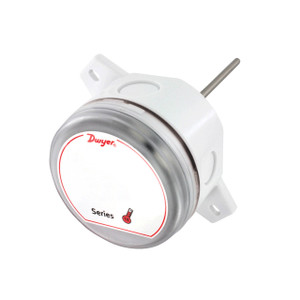 Dwyer Series TE Duct and Immersion Building Automation Temperature Sensor, 10K Ohm Type II Thermistor