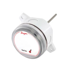 Dwyer Series TE Air Duct Temperature Sensor, 4 in. Probe, 20K Ohm Thermistor