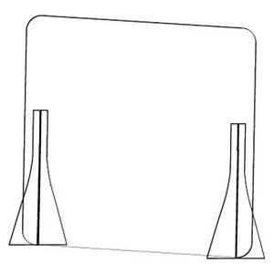 "31 in. W x 31 in. H Stand Mount Version Barrier/Sneeze Guard, 1/8"" Polycarbonate"