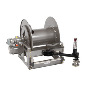 Hannay EPBGMB18-33-34 Series 12V DC Power Rewind LP Gas Hose Reel w/ Bottom Mounted Guidemaster - Reel Only - 1 in. x 200 ft.