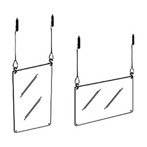 Polyguard Hanging Barrier Shield, 36 in. W x 24 in. H, 1/8 in. Thick, Food Grade Polycarbonate