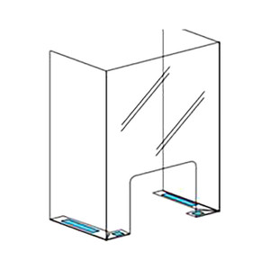 Polyguard Counter Barrier Shield, 24 in. W x 36 in. H w/12 in. Wing Returns, 1/8 in. Thick, Food Grade Polycarbonate