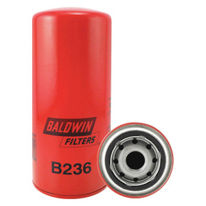 Baldwin Filters B236 Spin-On Oil/Hydraulic Filter, Full-Flow, 1 in. Thread, 8 Micron, Each