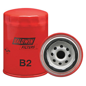 Baldwin Filters B2 Spin-On Oil Filter, Full-Flow, 3/4 in. Thread , 9.8 Micron, Case of 12